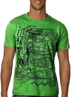 Circuit Board Tshirt Computer Geek Tee MENS by nonfictiontees, $15.00