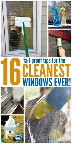 If you're like me, smudges on the windows drive you nuts! These window cleaning tricks will remove smudges as well as clean parts of the window you haven't even thought of. #cleaninghacks