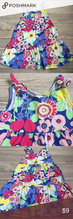 Gymboree Sundress Gymboree girls sundress.  Cotton knit with tie shoulders.  Excellent condition.  Smoke free/ pet free home. Gymboree Dresses Casual