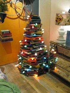 My kind of Christmas tree - book tree!