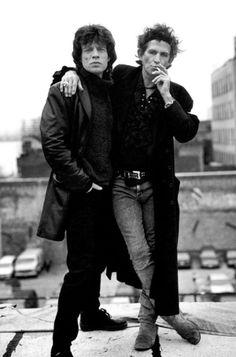 Mick Jagger & Keith Richards.