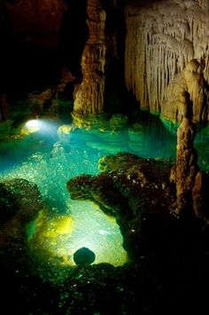 The 'Wishing Well' in Luray Caverns in Luray, Viriginia.