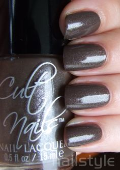 Cult Nails Power Thief (the only brown nailpolish i've ever loved!) ... that incredible micro-shimmer again <3  #JoinTheCult #CultNails
