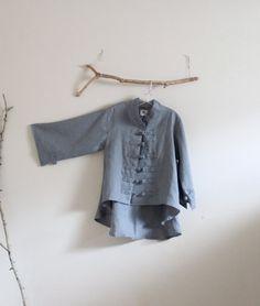 ready to wear handmade gray linen jacket by linenclothingbyanny