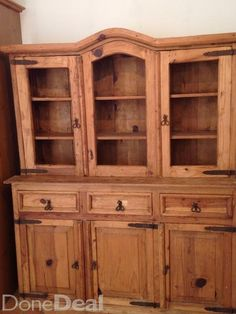 Mexican Pine Kitchen Dresser Now reduced Pine Kitchen, Rustic Kitchen, Kitchen Dining, Pine Dresser, Welsh Dresser, Kitchen Dresser, Kitchen Sale, Western Homes, Beer Garden