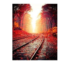 Pictures To Paint, Wall Art Pictures, Canvas Pictures, Paint By Number Kits, Train Tracks, Paint Set, Modern Wall Art, Diy Painting, Painting Lessons