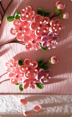 Сакура   Страна Мастеров Quilling Instructions, Paper Quilling Tutorial, Paper Quilling Patterns, Quilling Designs, Quilling Work, Quilling Paper Craft, Quilling Flowers, Paper Flowers, Paper Crafts