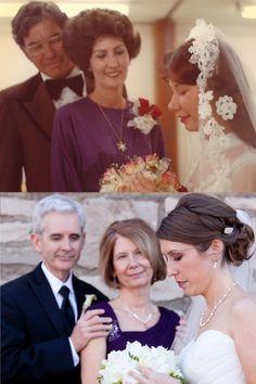 idea para foto original: toma la misma foto que tu mamá tomo al momento de casarse y unanlas!:)