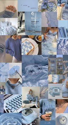 light/baby blue aesthetic wallpaper