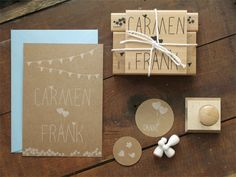 wedding-stamp-set by bastisRIKE: love the idea for wedding invitations and thank-you-cards!!