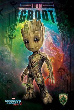 plakat Marvela zatytułowany Strażnicy Galaktyki vol. 2 I Am Groot