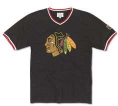 CHICAGO BLACKHAWKS MENS EASTWOOD TEE BY RED JACKET