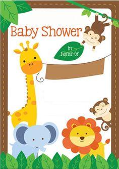 cutie Safari Party, Jungle Party, Jungle Theme, Baby Boy Invitations, Safari Invitations, Baby Shower Games, Baby Boy Shower, Baby Shower Invitaciones, Baby Wedding