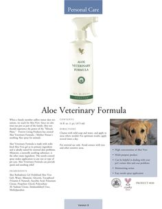 Aloe vera for pets as well...http://www.be-forever.de/aloevera-wellness-shop/ wellnessemy@outlook.de http://www.facebook.com/Bambusmassage.