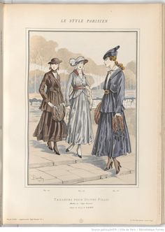 suits for young ladies, 1915 ~ these look a little bit sportier and slightly more casual than the ones for mature women