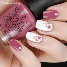 Flowers and studs nail art More