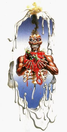 Seventh Son of a Seventh Son (Iron Maiden) Heavy Metal Art, Heavy Metal Bands, Iron Maiden Mascot, Iron Maiden Posters, Iron Maiden Albums, Iron Maiden Band, Eddie Iron Maiden, Rock Y Metal, Dragons