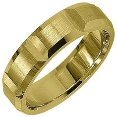 Jewelry Masters : Mens 14KT Yellow Gold 5mm Satin Comfort Fit Wedding Band [74-AY] - $525.00 (1050.00)