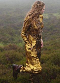 Hair.  lpandeff/Josephine Skriver ph. Yelena Yemchuk for UK Harper's Bazaar, December 2012