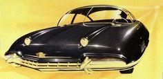 Styling exercise by Ed Glowake for Cadillac, 1948