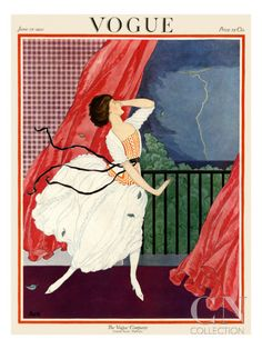 Vogue Cover - June 1921 Poster Print by George Wolfe Plank at the Condé Nast Collection