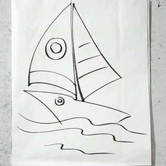 By rano Drawing Pics, Boat Drawing, Drawing Videos For Kids, Drawings, Beginner Art, Pears, Pictures To Draw, Coloring Pages For Kids, Sketches