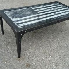 The Patriot - Industrial Coffee Table #051 • By Industrial Evolution Furniture Co. by scott dobert