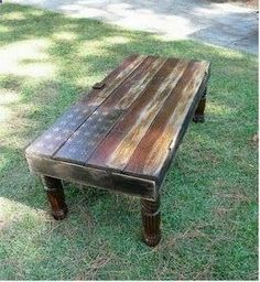 Making this rustic table would be within my skill set and would be functional while communicating my love of country (both kinds).