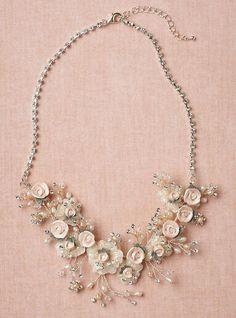 Pink Rose Garden Necklace
