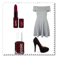 """Sans titre #5"" by bouferma-rim ❤ liked on Polyvore featuring Topshop, Essie and NYX"