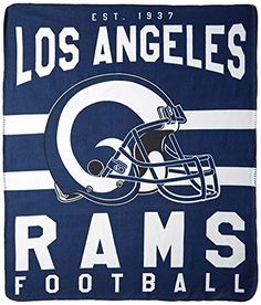 This Soft Fleece Throw Blanket Will Keep You Warm at The Game or ar Home. Nfl Logo, Sports Logo, Football Party Supplies, Eric Dickerson, Nfl Rams, Football Team Logos, St Louis Rams, First Love, Fleece Throw