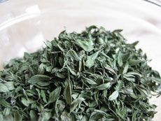 Harvisting and drying Thyme