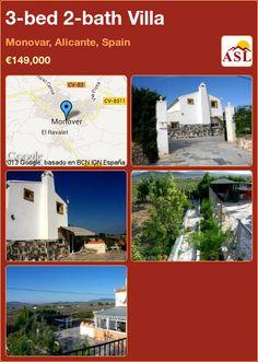 3-bed 2-bath Villa in Monovar, Alicante, Spain ►€149,000 #PropertyForSaleInSpain