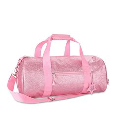 Pink sparkly duffle bag for ballet