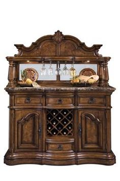 San Mateo Medium Brown Wood Buffet And Server