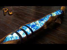 Lamp made of wood and gemstones. Светильник из дерева и цветных камней. - YouTube