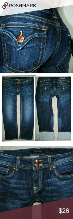 VIGOSS CAPRI FLAP TRIANGLE POCKET JEANS 9 10 30 No flaws. Measurements in pics  Sorry, no trades. Vigoss Jeans Ankle & Cropped