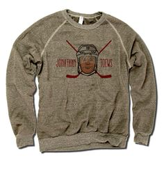 Jonathan Toews Officially Licensed NHLPA Chicago Unisex Crew Sweatshirt S-2X Jonathan Toews Cross Check