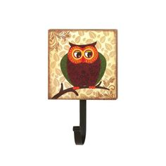 Functional decor can be a real hoot especially with this darling wall-mounted hook. The metal hook can hold your bag coat or purse and is topped with a wooden plaque decorated with a cute retro-style owl. Fat Owl Wall Hook by Rustica House. #myRustica