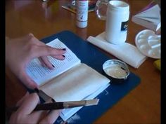How to gesso a book....