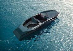 zaha hadid has been commissioned by london-based art dealer and writer kenny schachter to design a limited edition speedboat   for his own personal use.   the 8-meter-long 'Z boat' will be manufactured by french manufacturer shoreteam, who will produce just 12 of them to go on sale in early 2013.