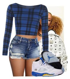 """""""Bluu"""" by biapearl ❤ liked on Polyvore featuring MCM, WearAll, NIKE, Blue, jordans, mcm and Mozambique"""