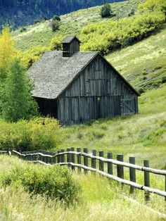 Barn in the green Telluride, Colorado