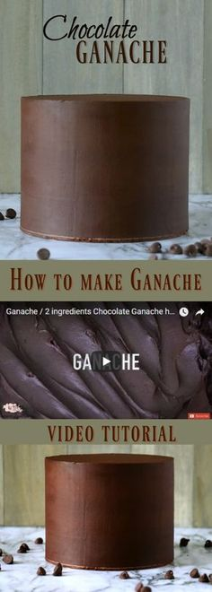 Make delicious Ganache to fill and frost cake. Here is a video tutorial on how to make ganache step by step. Perfect to get sharp edges on your cakes and give a velvety taste to your cakes. Ganache Torte, Chocolate Ganache Icing, Cake Chocolate, Modeling Chocolate, Perfect Chocolate Ganache Recipe, Chocolate Bowls, Icing Recipe, Frosting Recipes, Recipes For Cakes