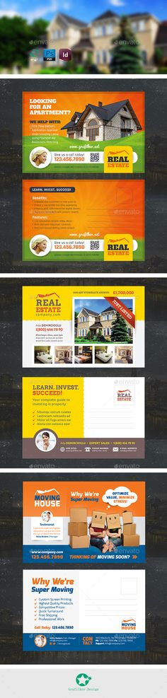 Real Estate Postcard Bundle Templates