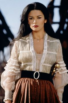 Catherine Zeta Jones in Mask of Zorro-- her costume is pretty directly taken from that fashion plate...