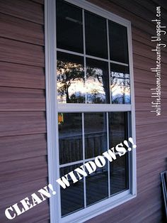 Homemade Outdoor Window Cleaner makes cleaning your windows so much faster && easier!