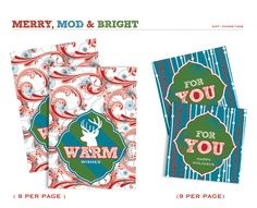 Free Christmas party printables from Hostess with the Mostess.