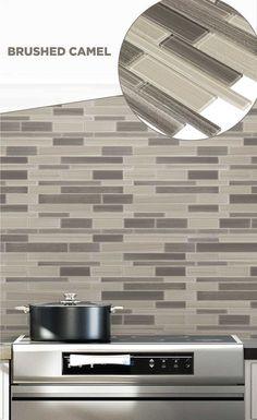 #tile #lowes #mosaics #glassmosaics #backsplash SB004CAML1213 Available at Lowe's and Lowes.com