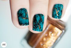 Tuto nail art turquoise